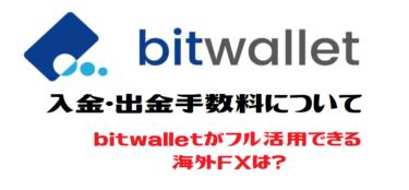 bitwalletの手数料について