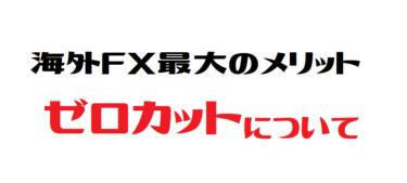 海外FX 最大のメリット・ゼロカットシステム